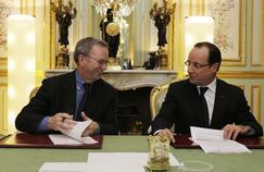 Eric Schmidt et François Hollande en 2013.
