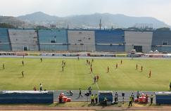 Le stade Alberto Spencer où se déroulait la rencontre entre River Ecuador et Aucas, avant que le match ne soit interrompu à cause d'une invasion d'abeilles.