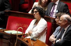 Myriam El Khomri lors du 49-3 pour la loi travail à l'Assemblée Nationale à Paris, le 20 juillet.