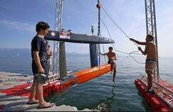 Les étudiants de l'EPFL ont imaginé un modèle réduit de navire où la cargaison est transportée dans une sorte de torpille immergée.
