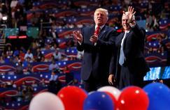 Donald Trump et son colistier Mike Pence, jeudi à Cleveland