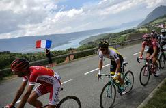 Le 22 juillet, à Saint-Gervais, lors de la 19e étape du Tour de France.
