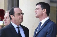 Le président François Hollande et le premier ministre Manuel Valls, en mars 2016 à Paris
