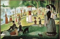 «Un dimanche apres-midi a la Grande Jatte». Peinture de Georges Seurat (1859-1891).
