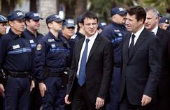 Manuel Valls et Christian Estrosi à Nice, le 22 octobre 2012.