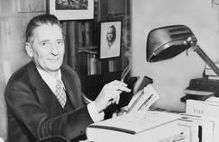 L'éditeur Max Perkins, dans son bureau.
