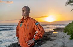 Bertrand Piccard en mars 2016 à Hawaï (États-Unis), avant la fin de la traversée de l'océan Pacifique, qui le conduira à San Francisco. (Crédits photo: Jean Revillard/REZO).