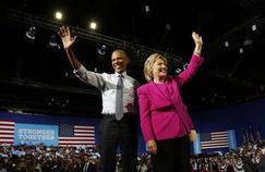Barack Obama et Hillary Clinton à Charlotte, en Caroline du Nord, le 5 juillet.
