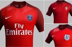 Le nouveau maillot du PSG ressemble beaucoup à ceux de l'Angleterre et du Portugal pendant l'Euro.