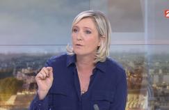 La présidente du Front national, Marine Le Pen, vendredi sur France 2