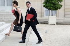 Manuel Valls arrive à l'Élysée pour un Conseil de sécurité, le 22 juillet.