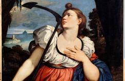 Allégorie de l'espérance tenant une ancre arrimée au monde invisible. Bartolomeo Schedoni (1578-1615), musée Ingres (Montauban).