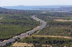 Portion de l'autoroute A9 près de Fabrègues, dans l'Hérault.
