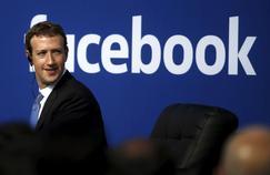 Mark Zuckerberg au siège social de Facebook, à Menlo Park, en Californie, en 2015.