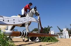 Nicola Philippaerts et son cheval Zilverstar T lors des qualifications du saut d'obstacles dimanche à Rio.
