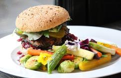 Le «Burger de champignons portobellos rôtis» selon le restaurant parisien Gentle Gourmet.