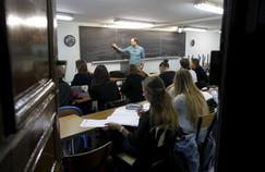 Une salle de classe dans un lycée parisien.