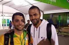 Vitor Galvani avec Tony Parker.