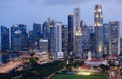 Vue sur la capitale Singapour.