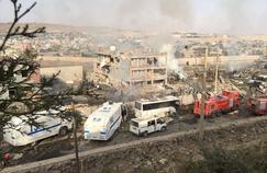 Le quartier général des forces antiémeutes a été dévasté par l'explosion.