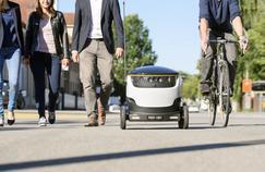 Le robot de la Swisspost, présenté hier à Berne.