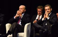 Alain Juppé et Nicolas Sarkozy le 14 octobre 2015 à Limoges.