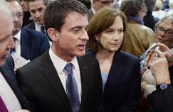Manuel Valls et Laurence Rossignol Porte de Versailles, le 11 avril 2015.