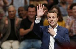 Emmanuel Macron, le 12 juillet, à l'occasion du meeting de son mouvement En marche!, à la Mutualité, à Paris.