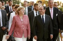 Angela Merkel et François Hollande, à Evian, le 2 septembre.