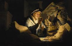 Rembrandt (1606-1669) Parabole de l'homme riche - 1627 - Huile sur bois - 31,9 x 42,5 cmBerlin, Staatliche Museen zu Berlin, Gemäldegalerie