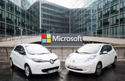 Les deux groupes vont «développer les futurs services connectés des véhicules en utilisant l'une des offres de cloud intelligent de Microsoft».