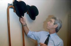 Georges Rémi, dit Hergé, chey lui en 1975.