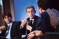 «La seule stratégie économique consiste à diminuer la dépense publique et à baisser les impôts», explique Nicolas Sarkozy, mardi, à la maison de Chimie.