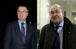 Christian Flaesch, ex-directeur de la PJ parisienne, et Bernard Squarcini, ex-directeur central du renseignement intérieur (photos de 2013).