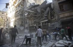 Un bombardement dans un quartier rebelle d'Alep le 27 septembre dernier.