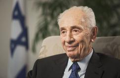 Shimon Peres, le 2 novembre 2015, lors d'une interview.