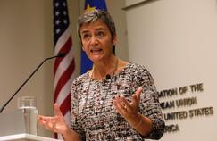 La commissaire en charge de la concurrence, la danoise Margrethe Vestager surnommée la «dame de fer», en visite à Washington le 19 septembre. PHOTO / YURI GRIPAS (AFP)