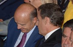 Alain Juppé et Nicolas Sarkozy à Nogent-sur-Marne, le 27 septembre 2015.