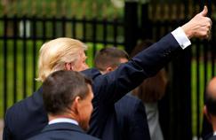 Donald Trump, le 30 septembre, dans le Michigan.