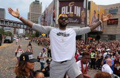 LeBron James durant la célébration du titre NBA décroché en juin dernier par Cleveland.