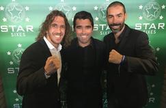 De gauche à droite, l'Espagnol Carles Puyol, le Portugais Deco, et le Français Robert Pires sont les ambassadeurs, et participeront à la première «Coupe du Monde des légendes».