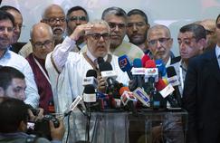 Le premier ministre sortant Abdelilah Benkirane vendredi soir au siège de son parti, le PJD.