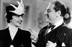 Sacha Guitry, avec sa troisième femme Jacqueline Delubac dans son film «Quadrille» en 1938.