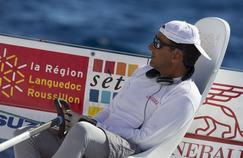 Alain Gautier lors de la 1ere etape de la Generali Solo entre Sete et Nice en 2015