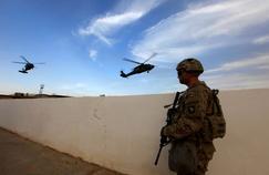 Un militaire de l'armée américaine à la base militaire de Makhmour près de Mossoul.