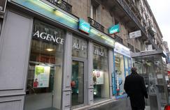 La devanture d'une agence de la compagnie d'assurances et mutuelles Maaf dans le 2e arrondissement de Paris.