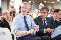 Bruno Le Maire et François Fillon lors du Congrès fondateur des Républicains, le 20 mai 2015.