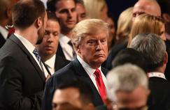 Donald Trump après le débat du mardi 19 novembre, à Las Vegas.