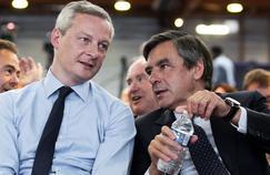 Bruno Le Maire (à gauche) et François Fillon, lors du congrès des Républicains.