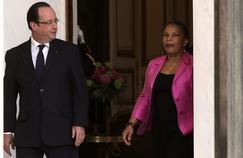 François Hollande et Christiane Taubira à l'Élysée, le 24 avril 2013.